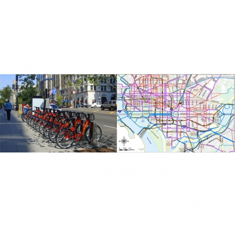 Bicyclist Safety in the Washington DC Metropolitan Area: Bike-Share Program and Bike-Paths Map in Washington DC